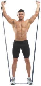 Упражнения с резинкой для фитнеса для груди