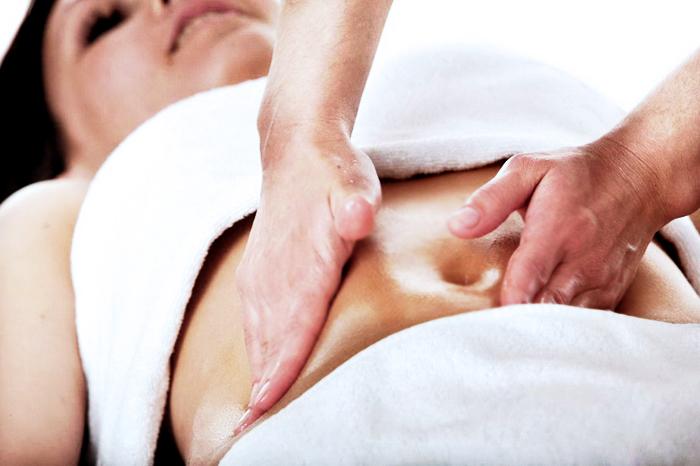 как убрать живот массажем