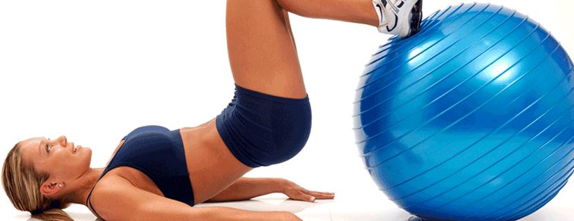 упражнения для ягодиц с фитболом