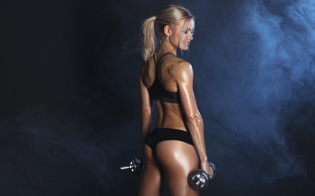 упражнения для похудения живота с гантелями